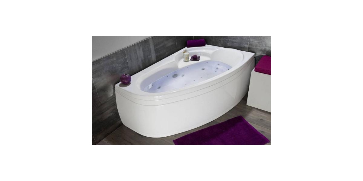 Baignoire balneo thala spa bath rosemary back to wall for Baignoire aquarine quadra