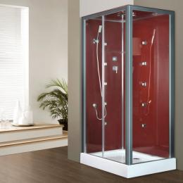 Découvrir Cabine de douche intégrale Irina Hydro Bordeaux 120x80CM
