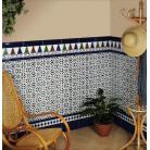 Cenefa alhambra 14*28 cm