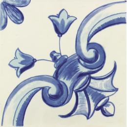 Découvrir Galan Flor Azul.2 20*20 cm