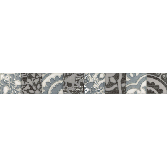 Frise Fiore gris 5*40 cm