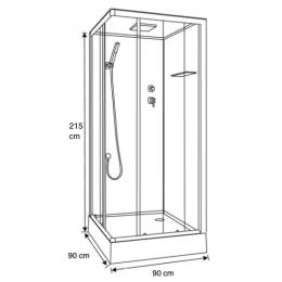Cabine de douche intégrale Irina Hydro Noir