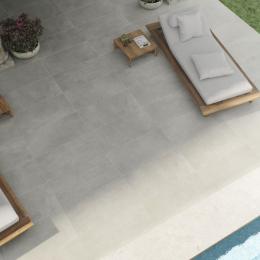 Carrelage sol extérieur effet pierre Naples Nuvola R10 59,2*59,2 cm