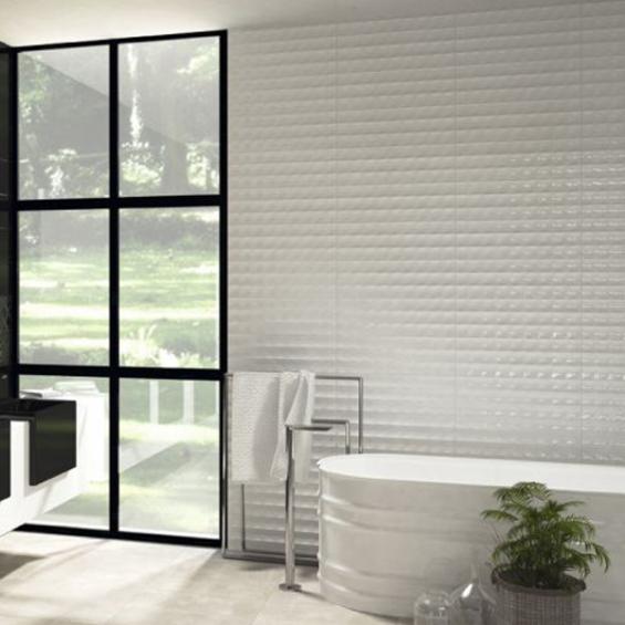 Vita white squares 20x60 cm