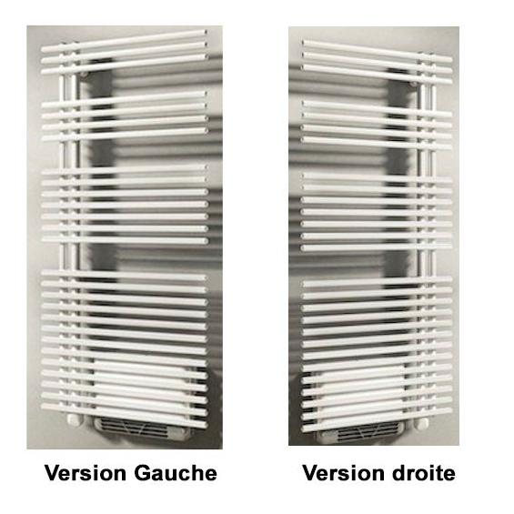 Radiateur Sèche-serviettes gauche FUNKY électrique avec soufflerie booster