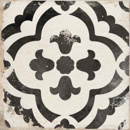Carrelage sol effet carreaux de ciment Bayou monte black 15*15 cm