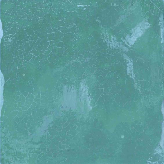 Zellige turquesa 13*13 cm