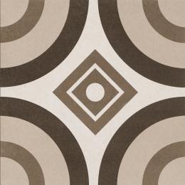 Carrelage sol effet carreaux de ciment Beach beige circle 25*25 cm