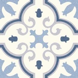 Carrelage sol effet carreaux de ciment Athènes monte carlo blue 25*25