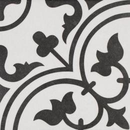 Carrelage sol effet carreaux de ciment Romaique White 25*25 cm