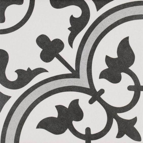 Carrelage imitation carreaux ciment romaique grey