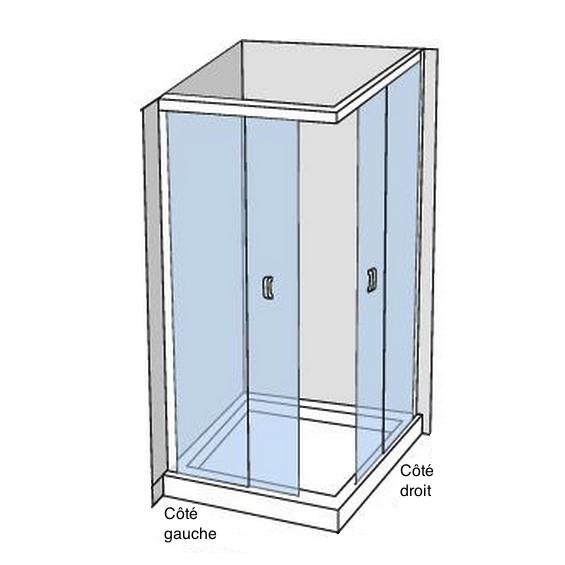 Portes de douche d'angle coulissante Tarifa