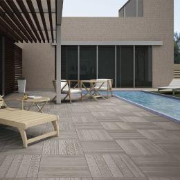Carrelage sol extérieur effet bois Tek gris R11 45*45 cm