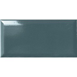 Carrelage mur Métro bleue 7,5*15 biseauté