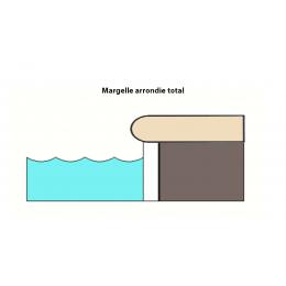 Margelle piscine Paco noyer 30x60 cm