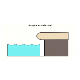 Margelle piscine Hook Beige 30x60 cm