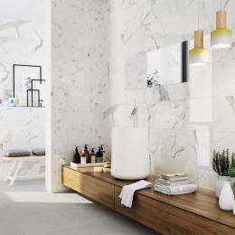Carrelage sol et mur effet marbre brillant Hotel brillo 30*60 cm