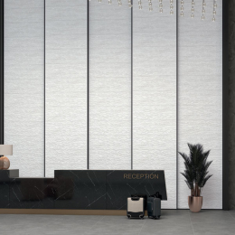 Carrelage mur Sélène ornamenta white 40*120 cm