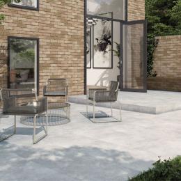 Carrelage sol extérieur effet pierre Natura grey R11 30*60 cm