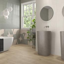Carrelage mur Décor mix Aqua sage 30x90 cm