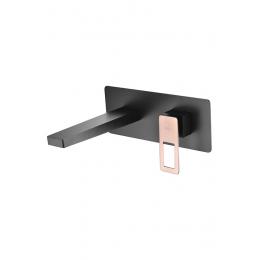 Découvrir Mitigeur lavabo Encastré Silvione noir / or rose