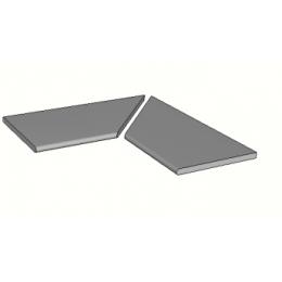 Découvrir Margelles d'angle piscine Iron 2.0 30x60 cm (2 pièces)