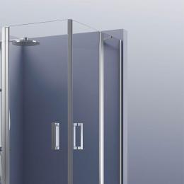 Portes de douche angle double pivotante Brest
