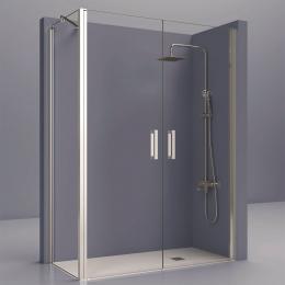 Portes de douche d'angle double pivotante Azur
