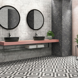 Haussman décor dark 20*20 cm