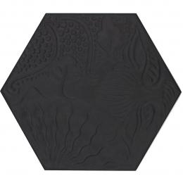 Découvrir Gaudi hex Black 25x25 cm