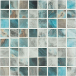Découvrir Heavy blue lagoon 31.5x31.5 cm