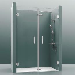 Découvrir Portes de douche double pivotante Teddy