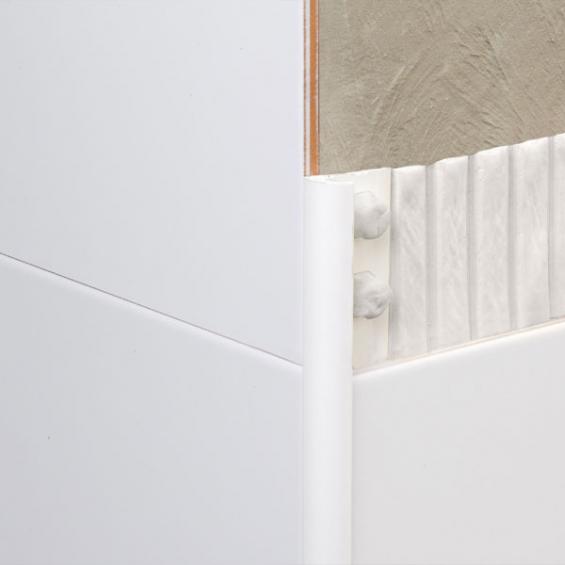 Baguette d'angle PVC blanc