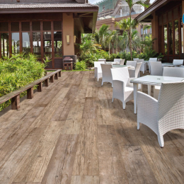 Carrelage sol extérieur effet bois Easy tabacco R11 20*120 cm