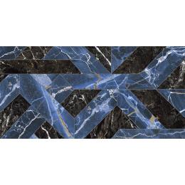 Carrelage sol et mur poli effet marbre Botticcino outline blue 60*120 cm