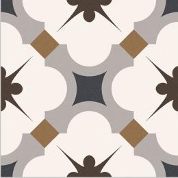 Carrelage sol effet carreaux de ciment Vintage gris 16,5*16,5 cm