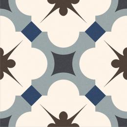 Carrelage sol effet carreaux de ciment Vintage blue 16,5*16,5 cm