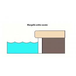 Margelle Etna travertin beige 25x100 cm cm