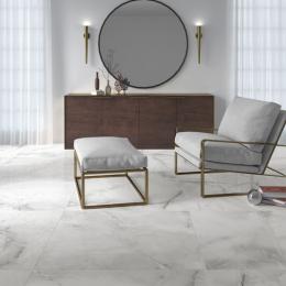 Carrelage sol poli effet marbre Cyclades gris 60*120 cm