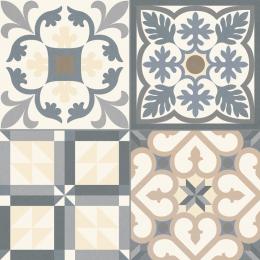Carrelage sol effet carreaux de ciment Tradition grey 33,15*33,15 cm