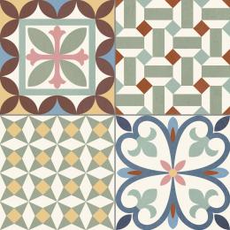 Carrelage sol effet carreaux de ciment Tradition mix 33,15*33,15 cm