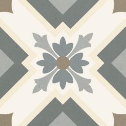 Carrelage sol effet carreaux de ciment Taco Tradition gris 16,5x16,5 cm